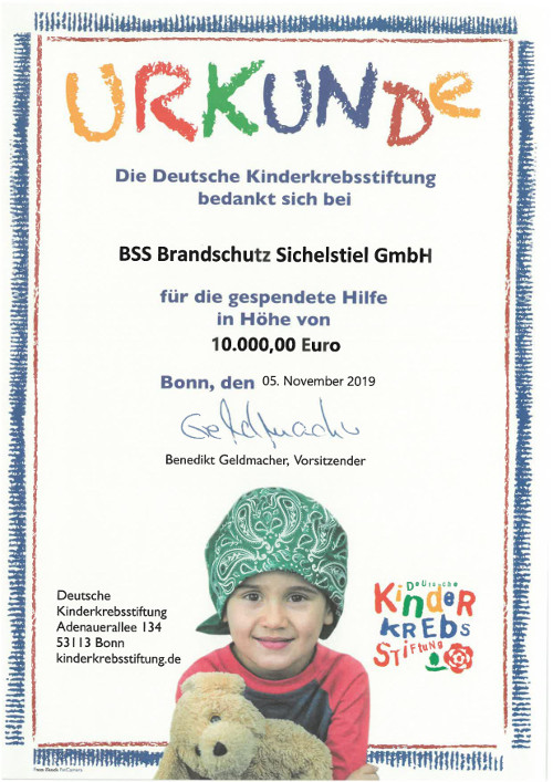 Spende an die Deutsche Kinderkrebsstiftung